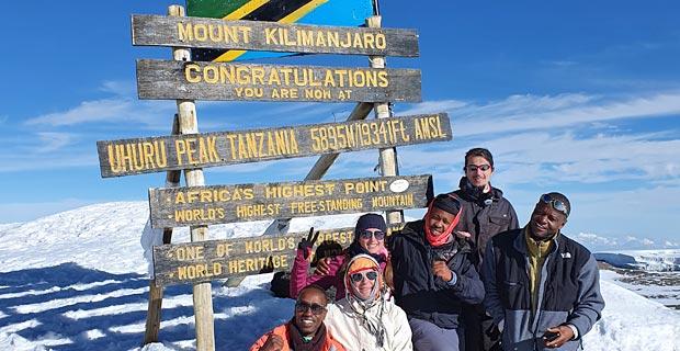 Familie Krugmann am Uhuru Peak