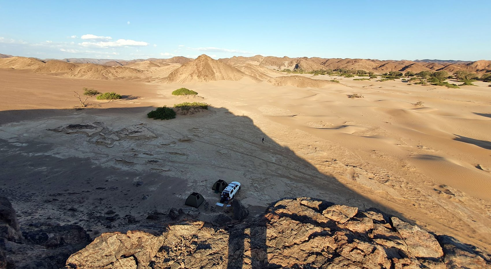 Campsite in Namibia